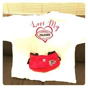 Atlanta Falcons shirt and purse